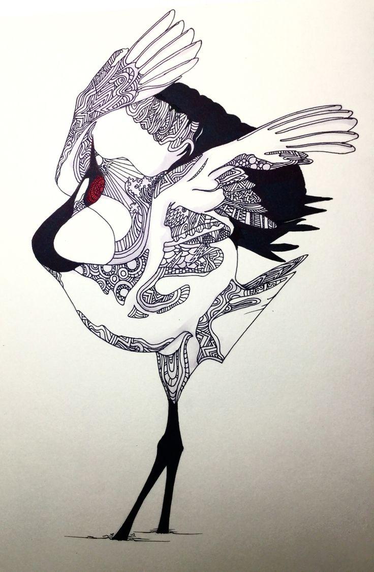 두루미 Red-crowned Crane
