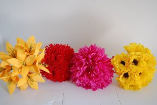 orange red yellow wedding bouquet