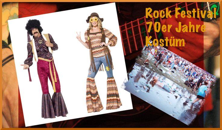 Verkleiden für Mottoparties und Karneval im Retro Look der 60er, 70er, Flower Power und Hippie Zeit