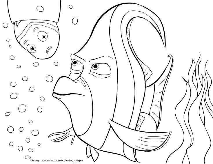 Buscando A Dory Para Colorear E Imprimir: 100 Mejores Imágenes De Disney Finding Nemo Coloring Pages