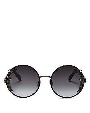 87b54216f4b JIMMY CHOO WOMEN S GEMA EMBELLISHED ROUND SUNGLASSES