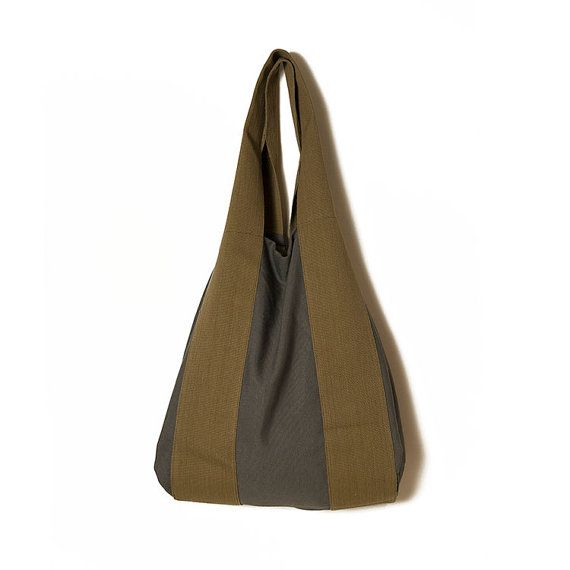 Grey tote bagLarge grey bagGrey and khaki by ElenaVandelliBags