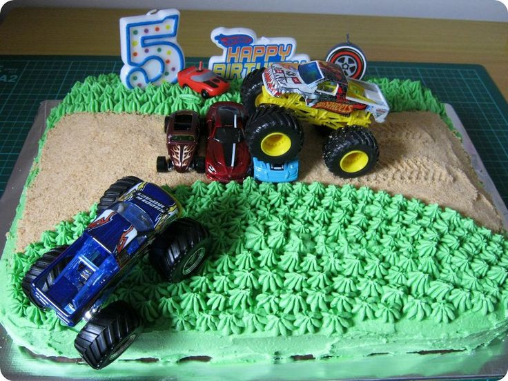 Cake decorating kits, Monster truck cakes and Truck cakes ...