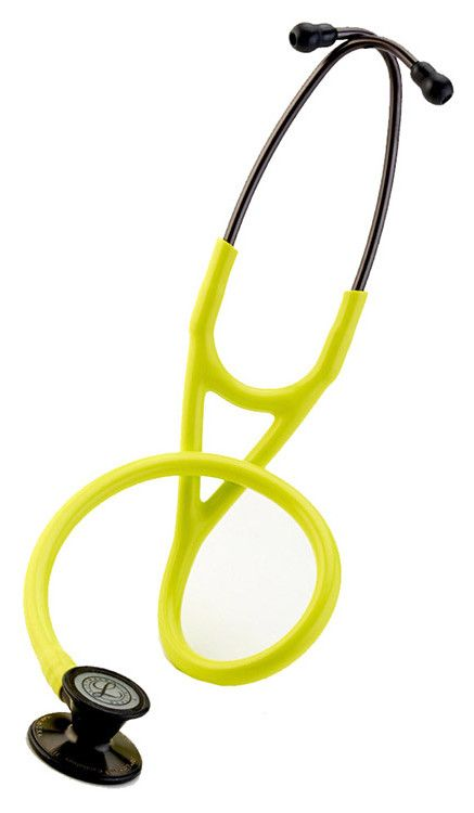 The 3M #Littmann Cardiology III stethoscope combines outstanding acoustics and superior versatility. Color featured here: #LemonLime with Smoke.