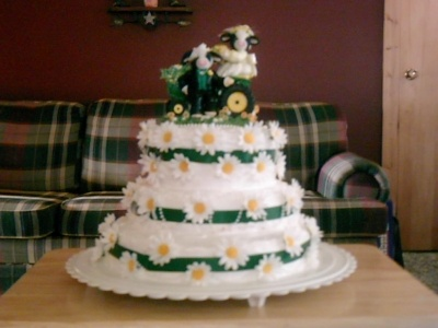 John Deere Wedding Cake By Misteedon On Cakecentral