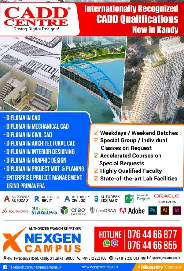 Internationally Recognized Cadd Qualifications Kandy Education