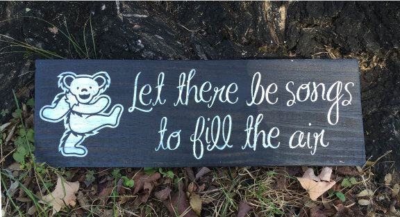 Painted Wood Sign Grateful Dead Let There Be by ScarletBGonias
