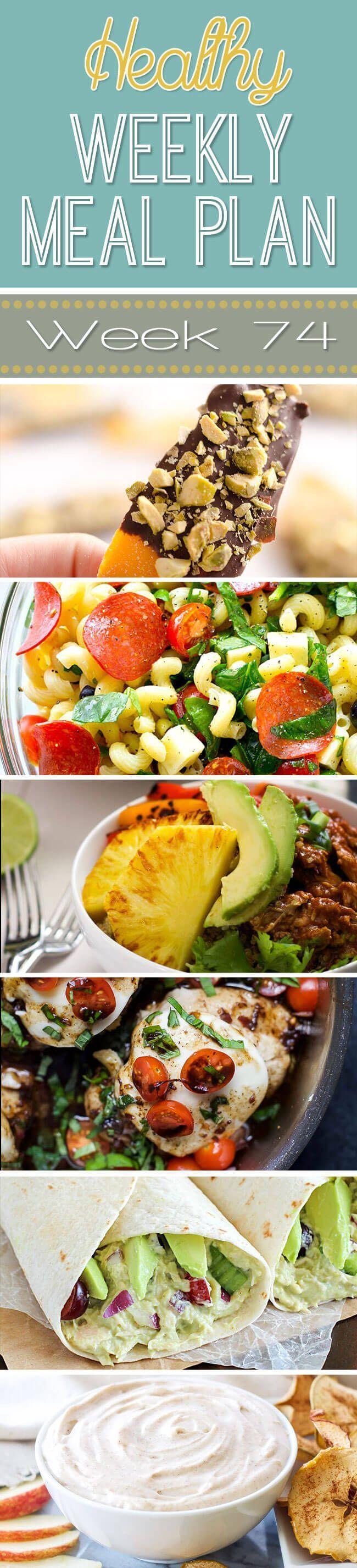 Healthy Weekly Meal Plan #74