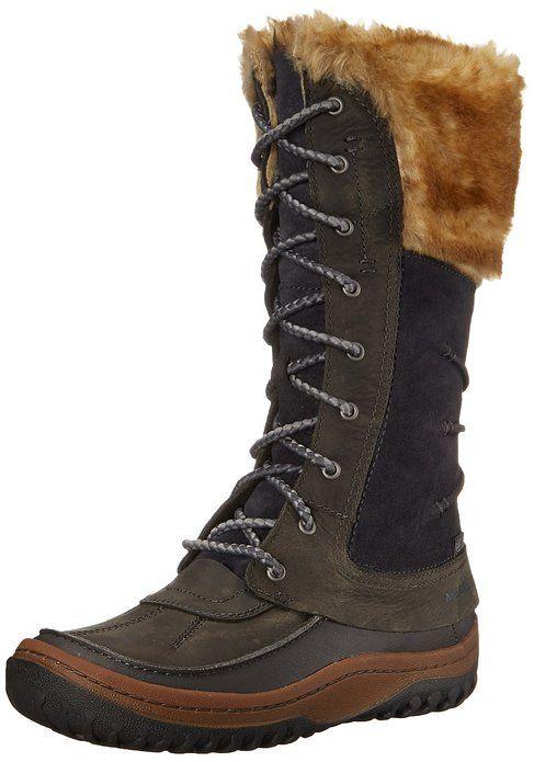 AmazonSmile | Merrell Women's Decora Prelude Waterproof Winter Boot, Brown Sugar, 5 M US | Snow Boots