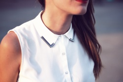 All the love: Fashion Details, Style, Clothes 3, Dream Closet, White Shirts, Collar Edges, Clothes Ii