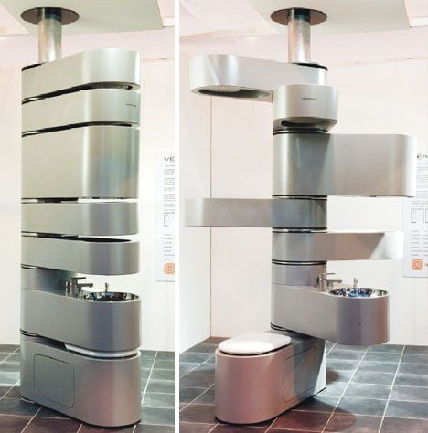 Bathroom All In One Modular Unit Incl A Toilet Sink And Basin