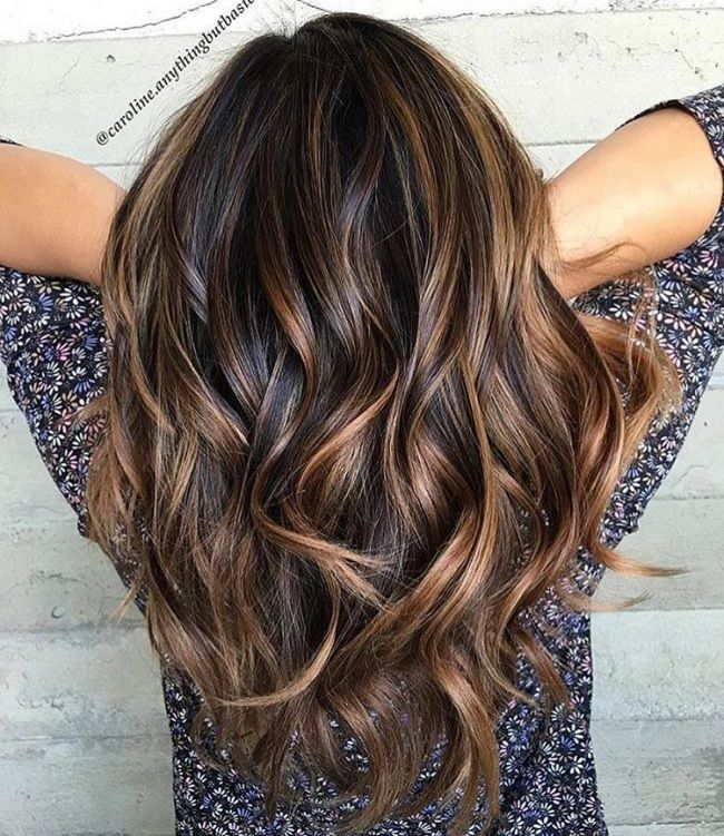 Brune mèche ombre hair