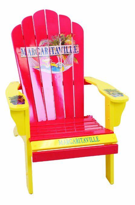 Amazon.com: Margaritaville Painted Parrot In Hammock Adirondack Chair:  Patio, Lawn U0026