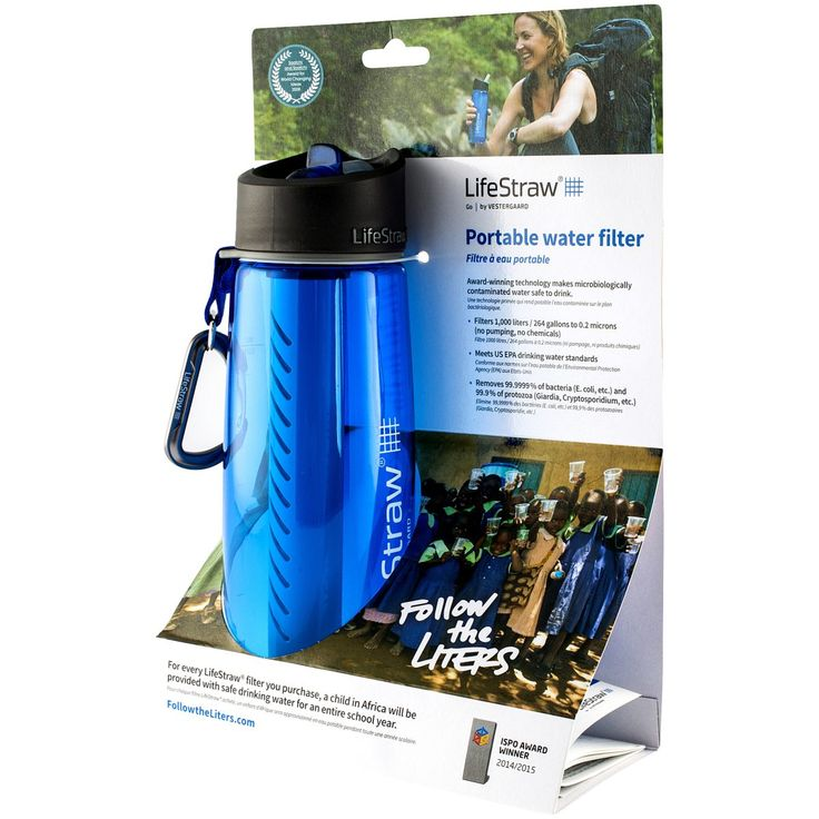 Les mer om Lifestraw Go Bottle, 670 ml, drikkeflaske m/rensefilter. Trygg handel med Prisløfte og 100 Dagers Åpent Kjøp