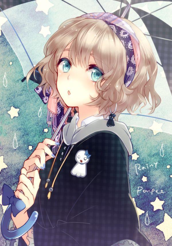 Tags: Anime, Rain, Doll, Poncho, Wavy Hair, Teru Teru Bouzu, Inko