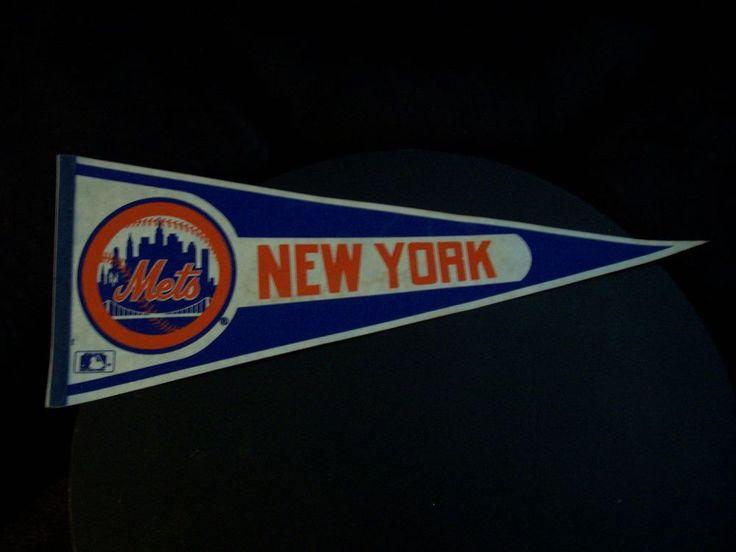 Vintage New York Mets MLB Pennant-1980's #NewYorkMets