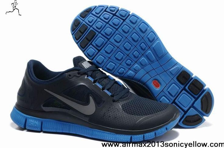 Sale Discount Nike Free Run 3 Mens 510642-303 Light Midnight Game Royal Silver Newest Now