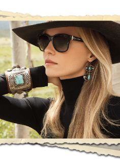 Ralph Lauren just does it every time for me this shows how well black just makes turquoise/silver accessories pop