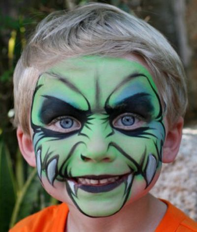 Trucco del viso per Carnevale per bambini da mostro