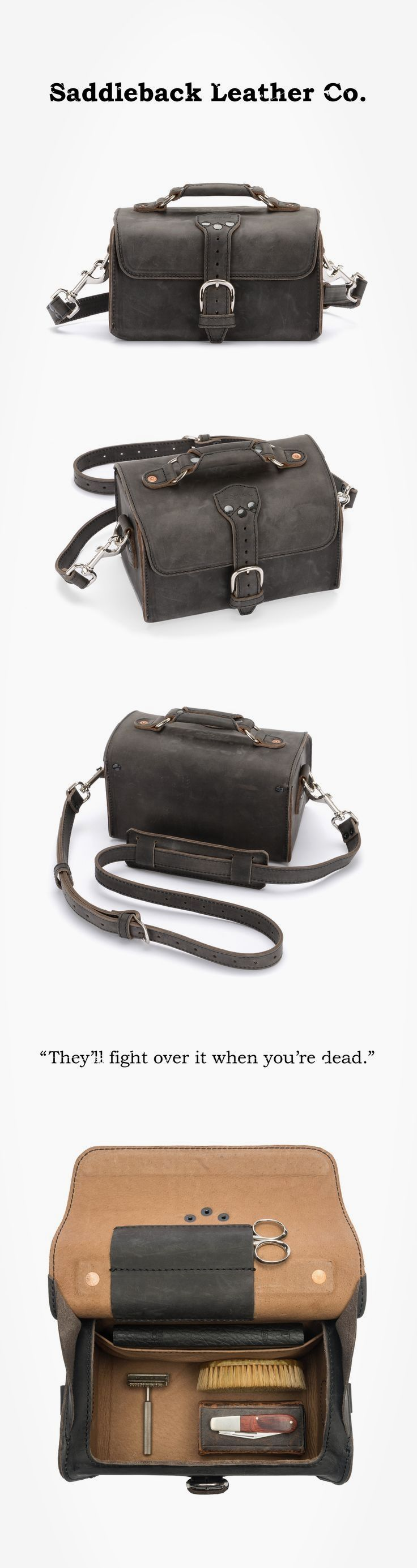 The Saddleback Leather Travel Case in Carbon | 100 Year Warranty | $181.00