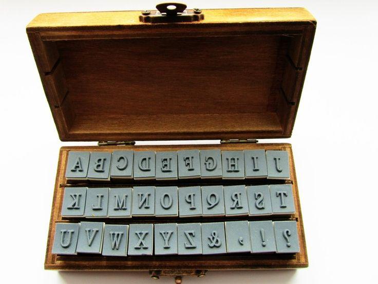 Alphabet+Stempel+,Buchstaben