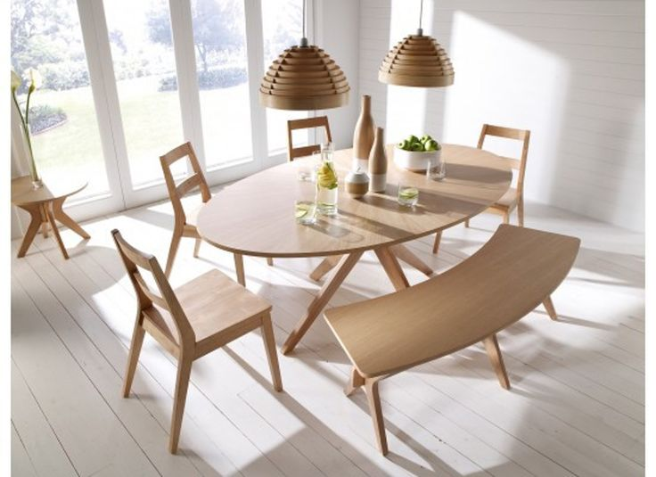 Cool, minimalist andstylish, our Scandinavian Dining Set has everything you need to entertain including a table, chairs and additional seating. Oslo Dining Tab