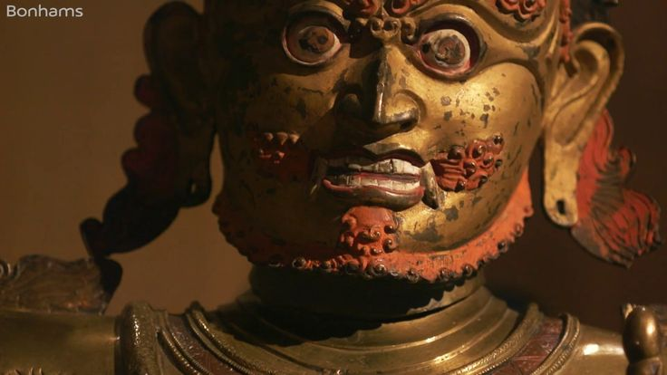 A monumental brass figure of Canda Vajrapani from the Collection of Ulrich Von Schroeder. A Masterpiece of 13th-century Tibetan sculpture. -Bonhams-