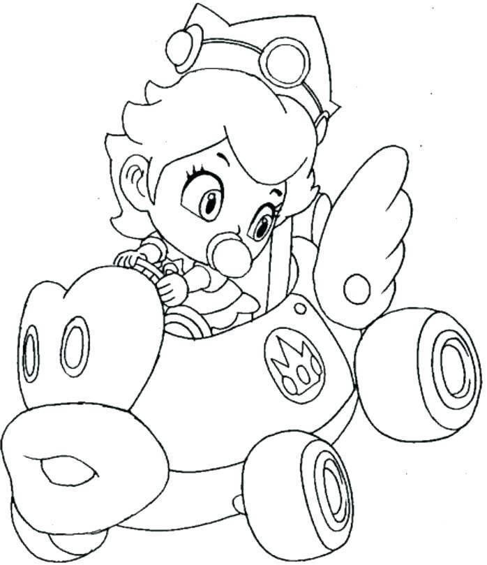 Coloriage Mario Kart Peach Mario Coloring Pages Super Mario Coloring Pages Coloring Pages