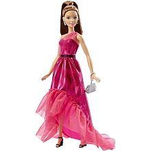 Poupée Barbie robe fushia DGY71 - Brune
