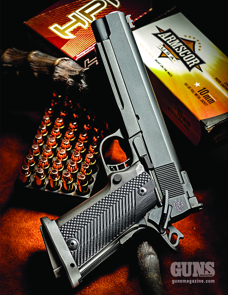 METRIC MAULER — Rock Island's High-Cap 10mm May Blast This Cult Caliber Back Into The Spotlight. | Click to read now: http://gunsmagazine.com/metric-mauler/ #Rock Island #10mm #gunsmagazine #Armscor