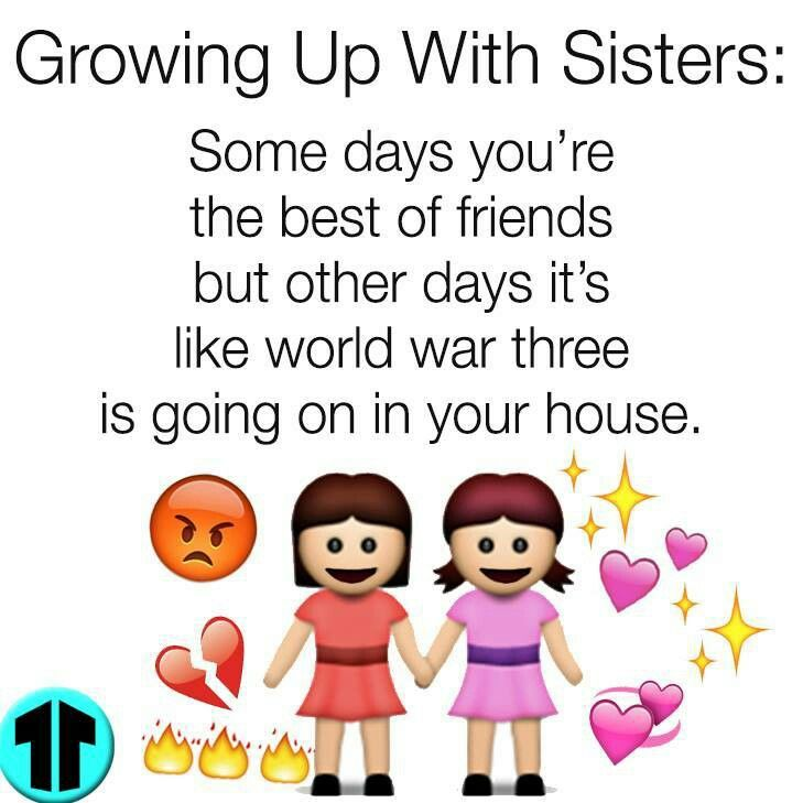 Growing up with sisters