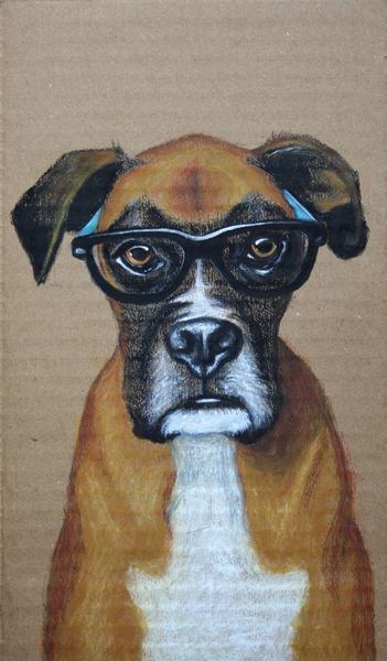 Cogitative Boxer: Wall Art, Boxers Dogs, Kids Spaces, Boxers Art, Dogs Art, Art Ideas, Altered Books, Buldogu Inglê, Cogit Boxers