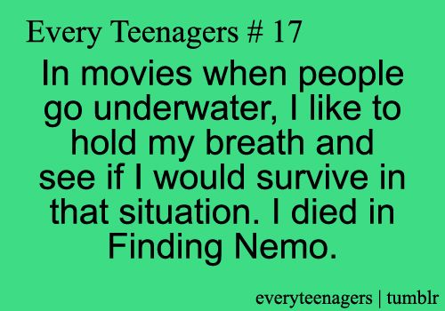 I do this ALL the time! I have discovered that i wouldn't have survived The Princess Bride