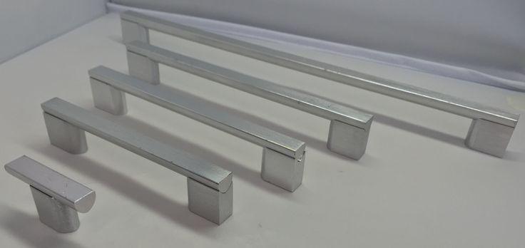 CGS Brushed Aluminum Collection 142-204 (T-Bar) 142-205 (L130mm) 142-206 (L162mm) 142-207 (L194mm) 142-208 (L322mm)