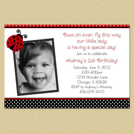 10 best ladybug first birthday invitations images on pinterest ladybug birthday invitation like the wording except with our little j bug is turning one stopboris Gallery