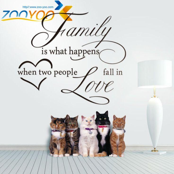 Семья это то, что происходит, когда влюбляются цитата стены винила наклейки наклейки на стены Любителей Главная свадебные украшения стола