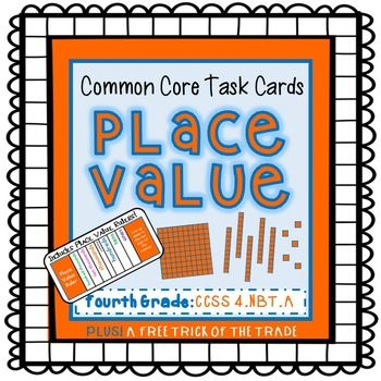 *Includes special rulers to help students find the place values of numbers!* This set of 30 task cards is aligned to 4th grade Common Core Standards, but also works great for 3rd grade enrichment and 5th grade remediation.  Students will enjoy sharpening their place value skills with (or without) the use of the place value rulers!
