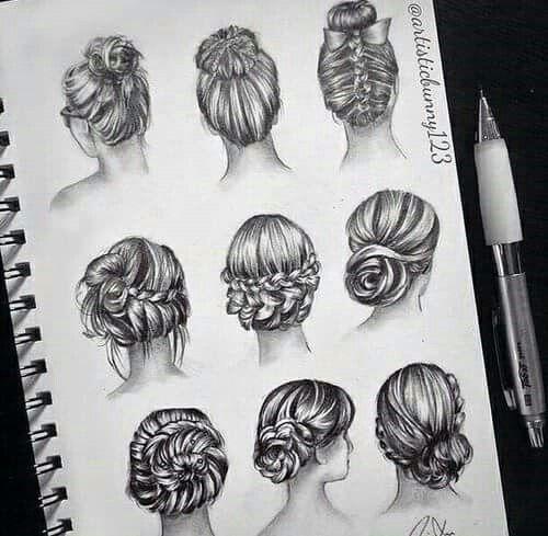 Desenhos cabelo