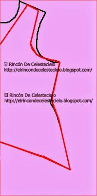 El Rincon De Celestecielo: Trazar cola de pato en espalda de blusa. Parte 1