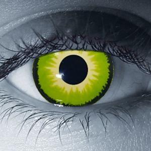 Crow (Green) Custom Contact Lenses