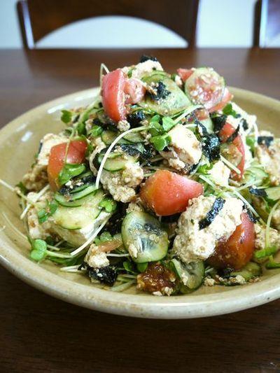 「豆腐と野菜のサラダ♪梅おかか風味♪」のレシピ by bvividさん | FOODIES レシピ - 世界中の家庭料理に出会える、レシピのソーシャルブログ