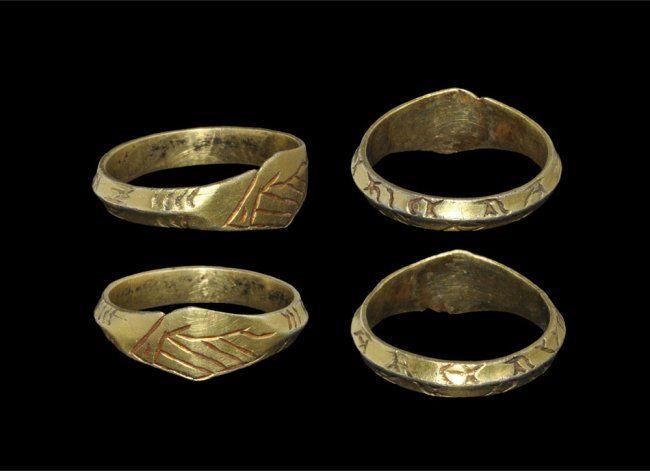 Post Medieval Tudor Silver Gilt Inscribed Fede Finger Ring