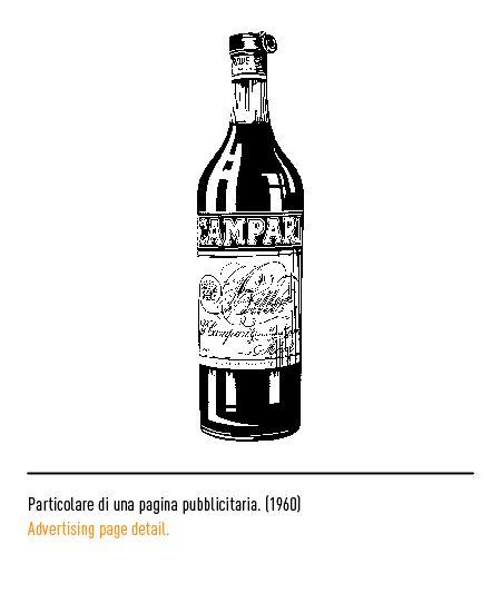 Marchio Campari - Particolare di una pagina pubblicitaria 1960