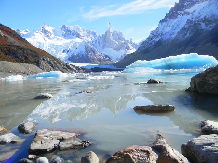 Laguna Torre . El Chalten . Patagonia Argentina