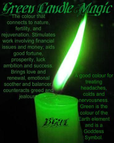 Green Candle Magick ✯ Visit lifespiritssocietyofmagick.com for love spells, wealth spells, healing spells, and LOA info.