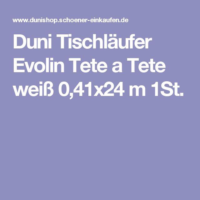 Duni Tischläufer Evolin Tete a Tete weiß 0,41x24 m 1St.