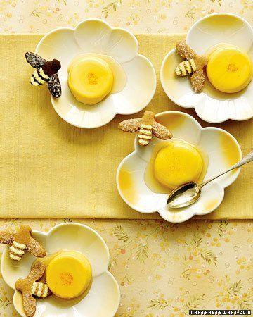 Honey-Saffron Panna Cottas