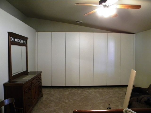 Wall To Wall Cabinets In Bedroom | White Garage Cabinets | Pinterest |  Bedrooms, Walls And Interiors