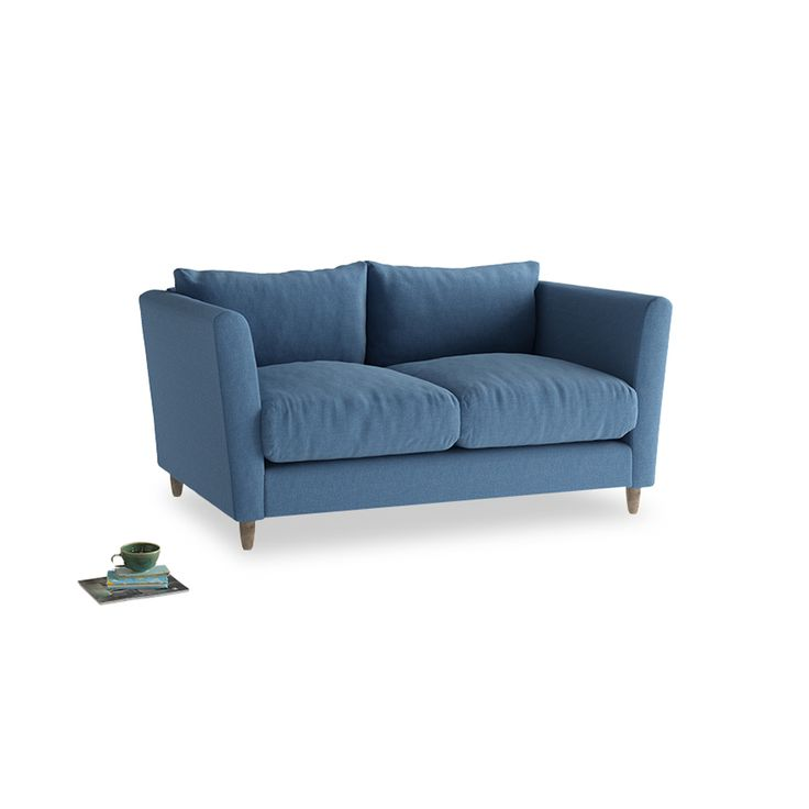 Small Flopster Sofa in Teal Brushed Cotton