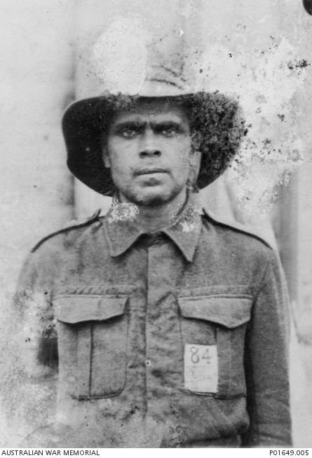 Aboriginal serviceman Private Frederick Beale, 2/20th Battalion as POW in Naoetsu camp. He was captured, along with his brother, Pte George Henry Beale after the fall of Singapore on 15 February 1942 and spent time in Changi POW camp before being sent to Naoetsu Camp in Japan, and were forced to work as steel mill labourers. George died on the operating table, from injuries sustained in an accident after working a 24 hour shift. Frederick survived the war and was released in September 1945.
